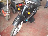 もともとモペッドも生産していたFAR社では、現在このような電動バイクも造っている。