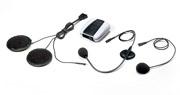 これが「ハローバイカーズ」。コンパクトなブルートゥース・ユニットとマイク&スピーカーの組み合わせで、ワイヤレス・コミュニケーションを簡単に実現可能なもの。